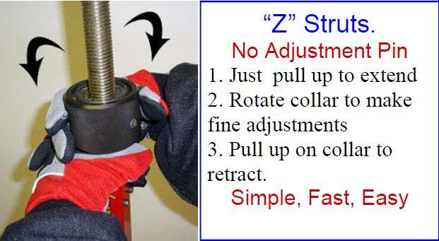 JYD Z-Strut Adjustment