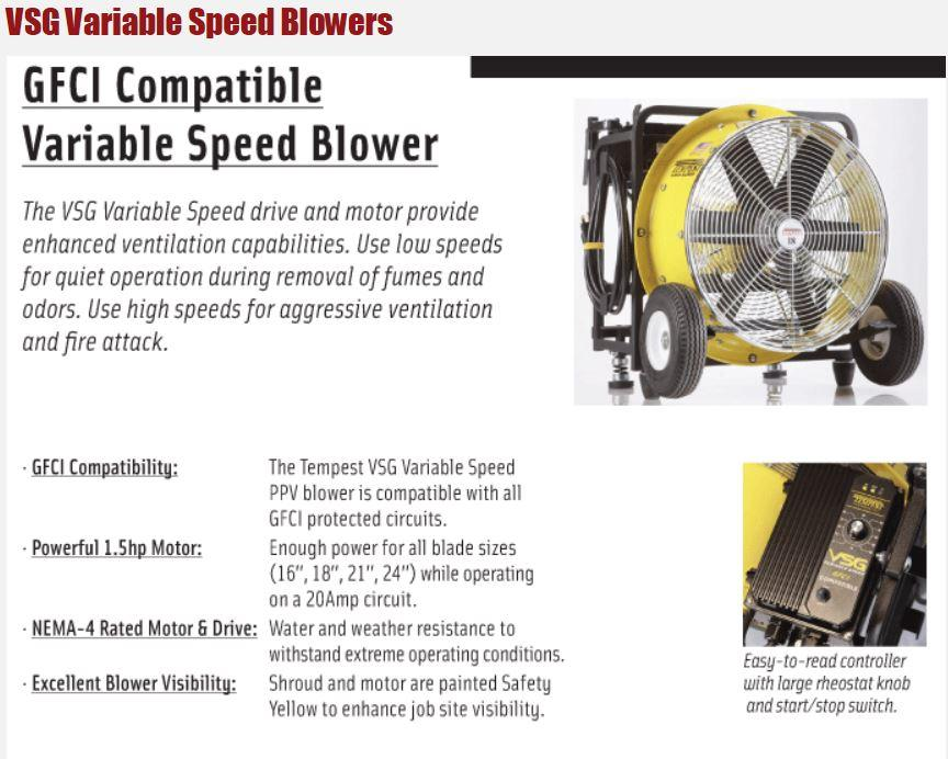 Variable speed ppv fans coastal fire systems inc for Multi speed blower motor
